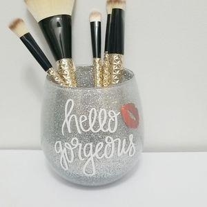 New 3/$20 Hello Gorgeous Glitter Brush Holder